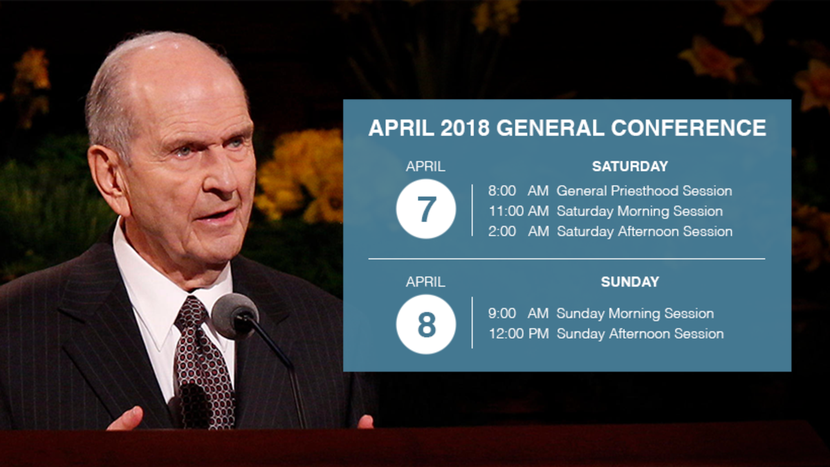 April 2018 General Conference Local Broadcast Schedule