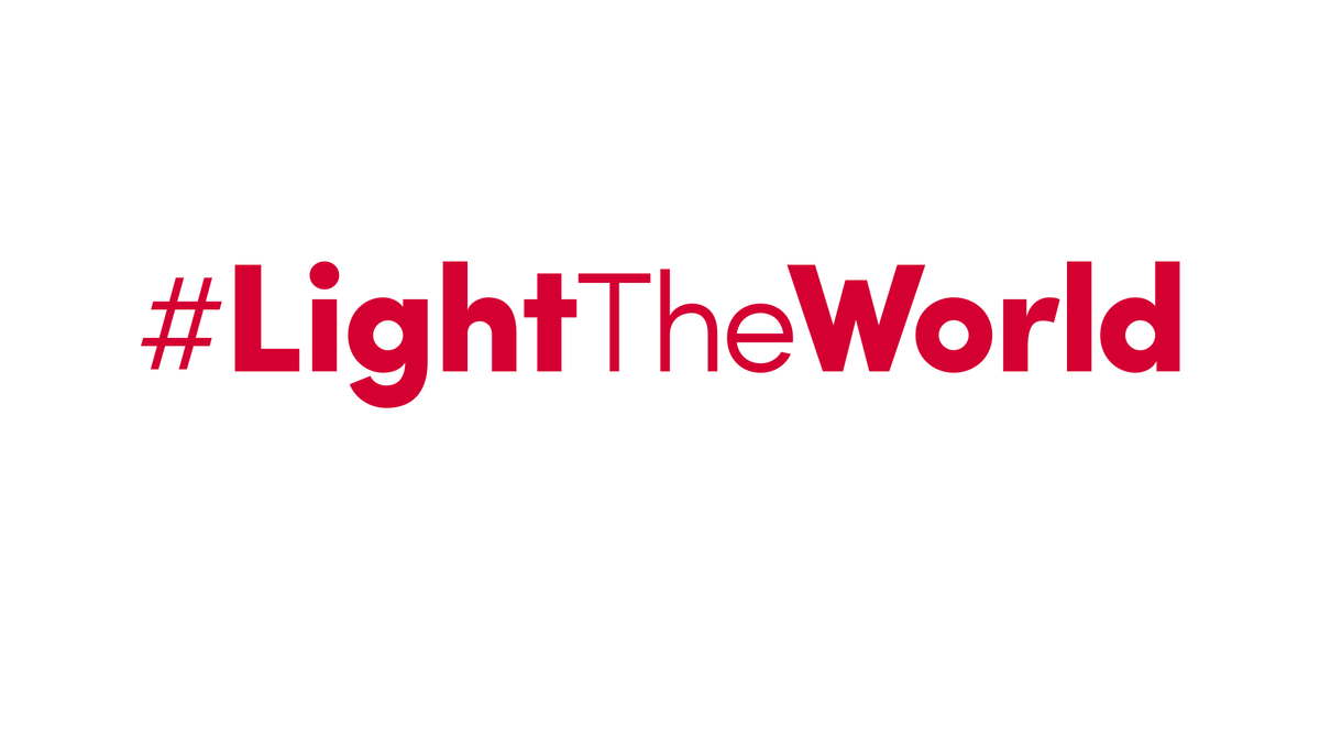The correct and official hashtag for Light The World.