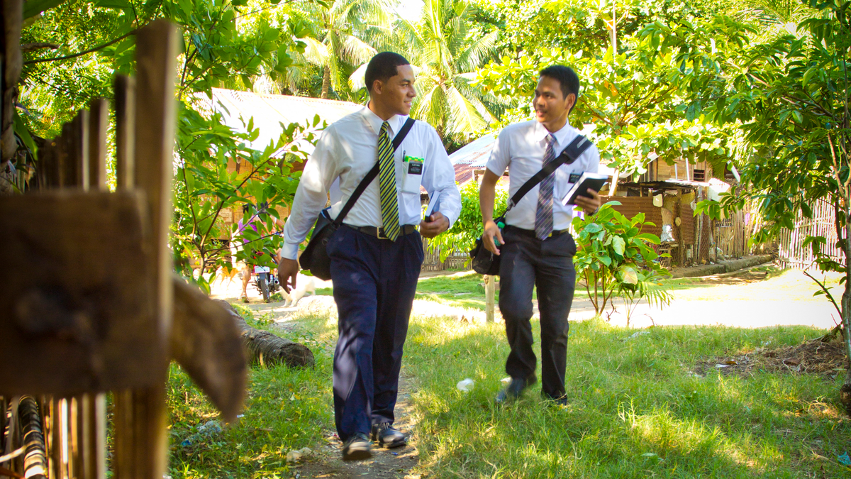 Missionaries spend their time serving others and teaching people about the gospel of Jesus Christ.