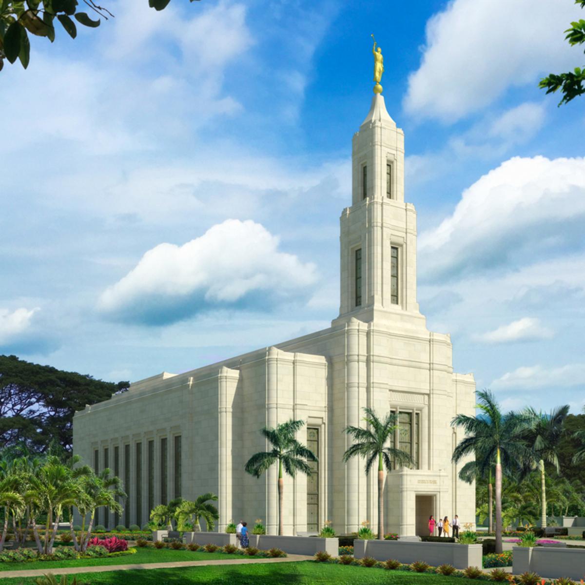 Artist rendering of the Urdaneta Philippines Temple.