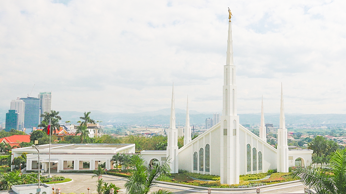 The Manila Philippines Temple of the Church of Jesus Christ of Latter-day Saints was the first temple to be constructed in the Philippines. It was dedicated in September 1984 by Gordon B. Hinckley.