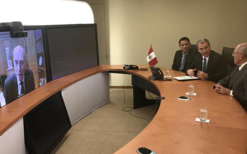 Presidente de Perú y Primera Dama agradecen a Presidente Eyring