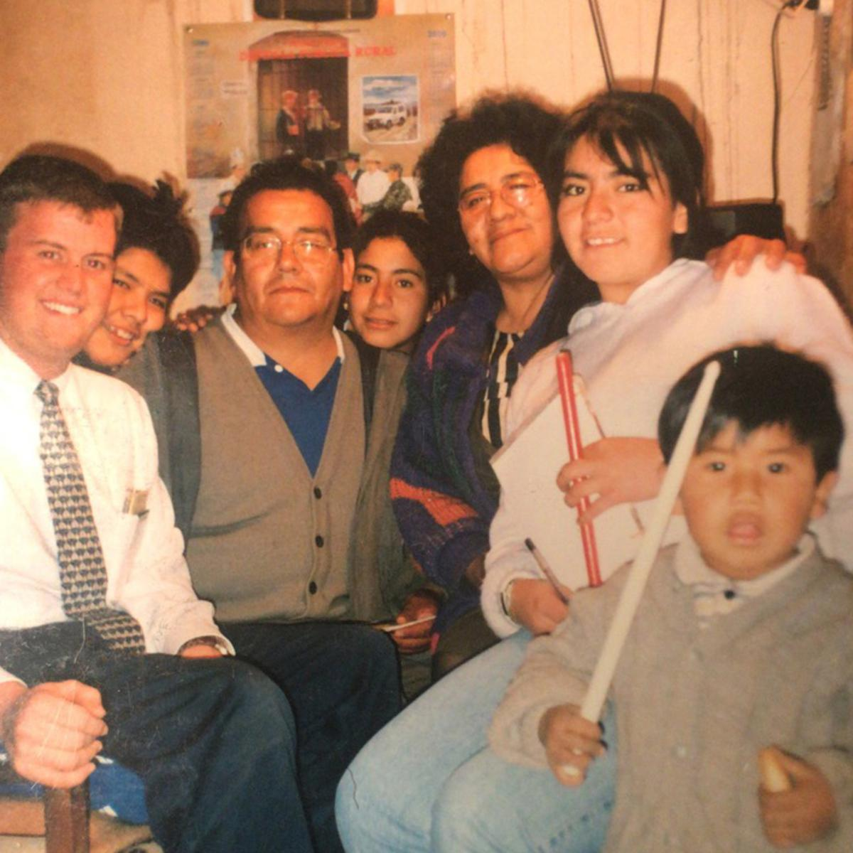 Tommy Upshaw with Celestino family