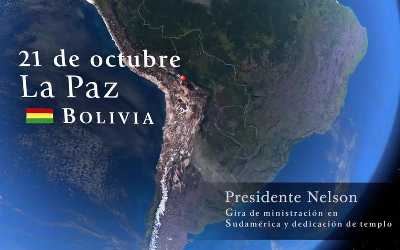 El Profeta de la Iglesia de Jesucristo visita Bolivia en su gira por Sudamérica