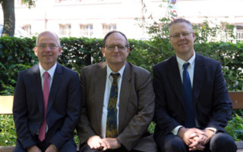 von links nach rechts: 1.Ratgeber: Fred Warncke, Bischof: Laurent Stahl, 2. Ratgeber: Joseph Berryhill