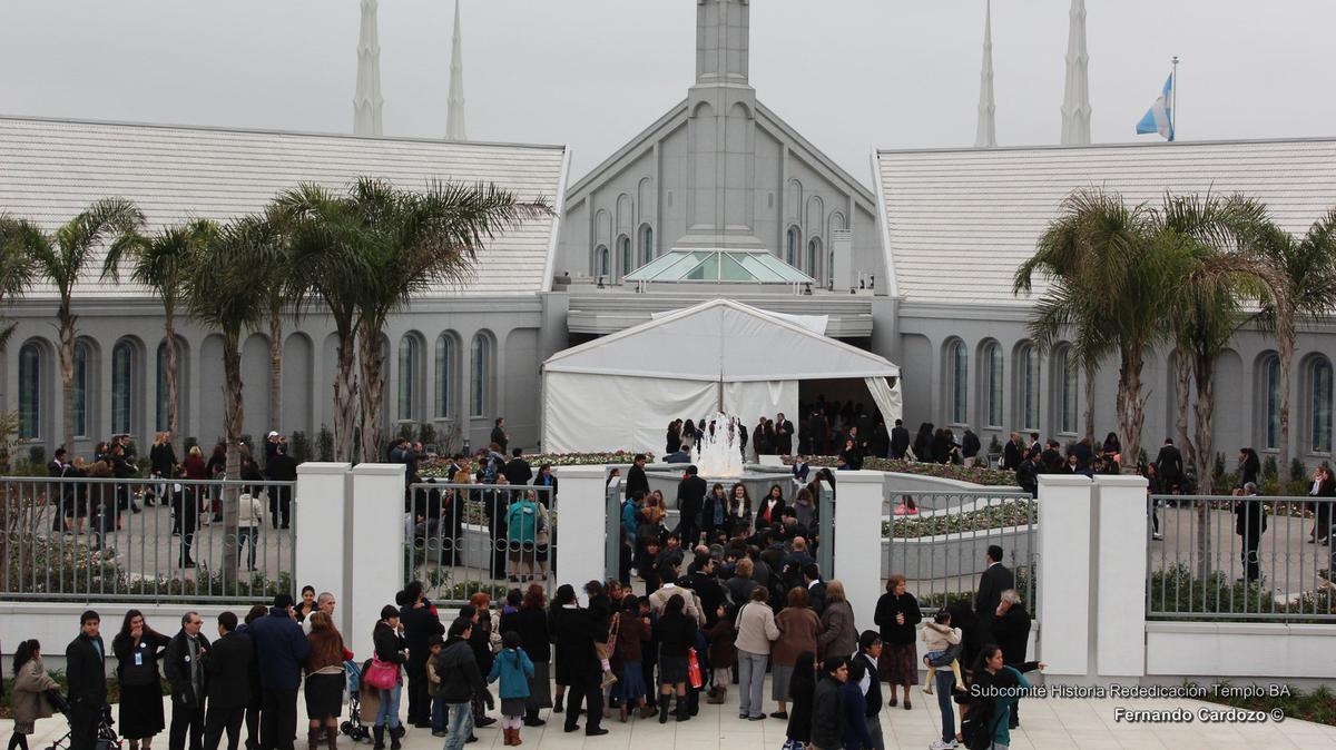 Casa Abierta de la rededicacion del Templo de Buenos Aires