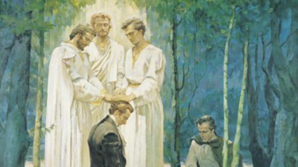 Los mormones creen que los mensajeros celestiales concedieron el sacerdocio de Dios José Smith y Oliverio Cowdery en 1829