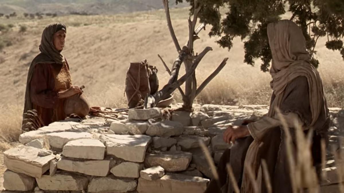 Jesús enseña a la mujer samaritana