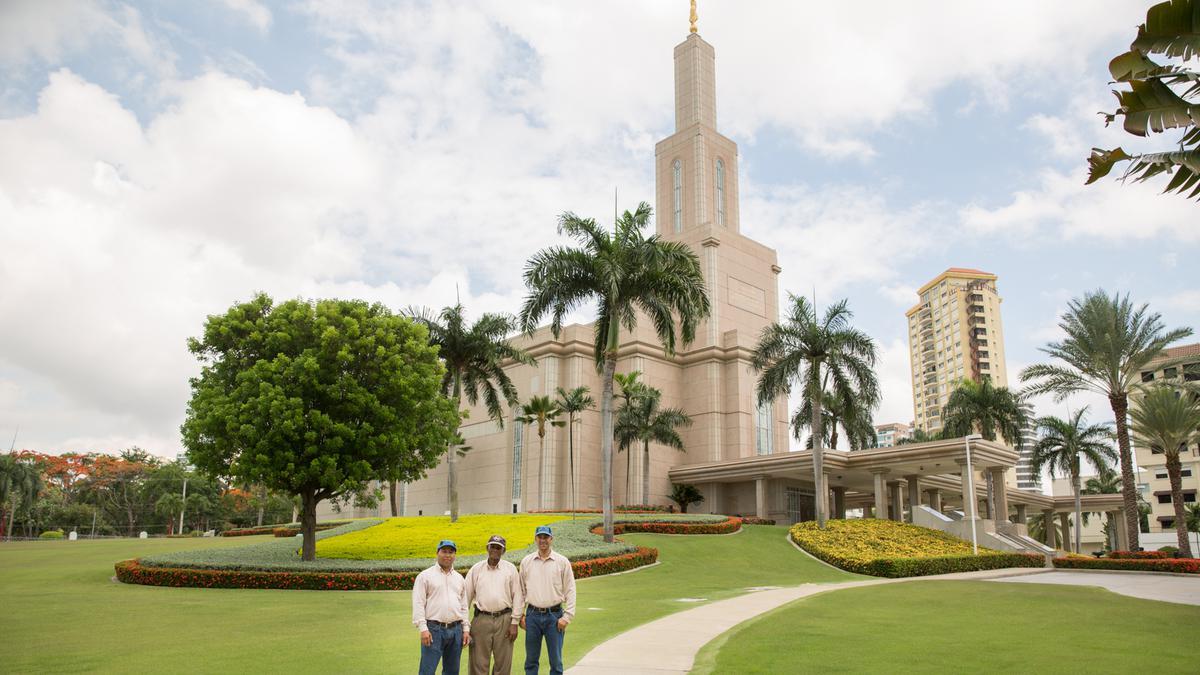 Jardineros del Templo