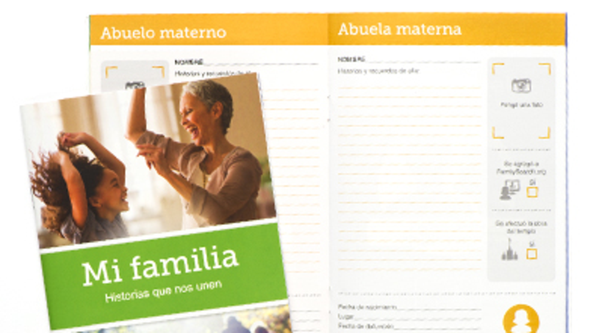 Cuadernillo ' Mi Familia, Historia que nos unen'.