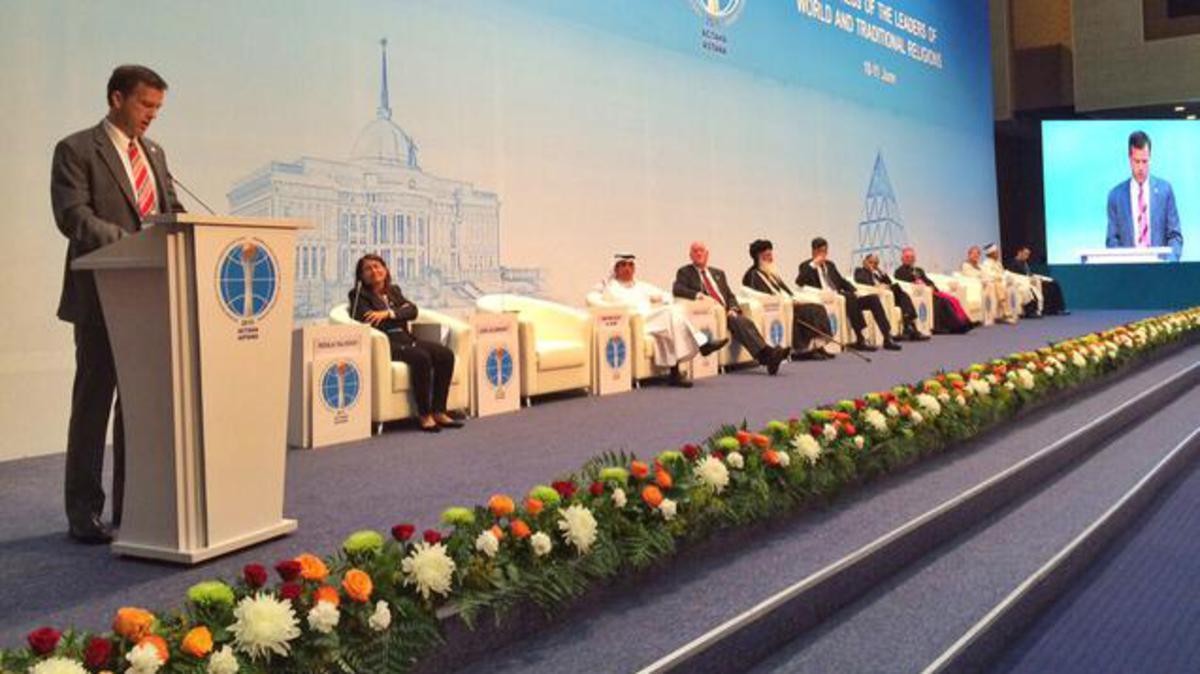 Выступление представителя Церкви на V Съезде лидеров мировых и традиционных религий