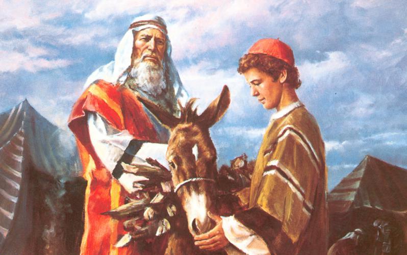 105: Авраам берет Исаака для принесения в жертву