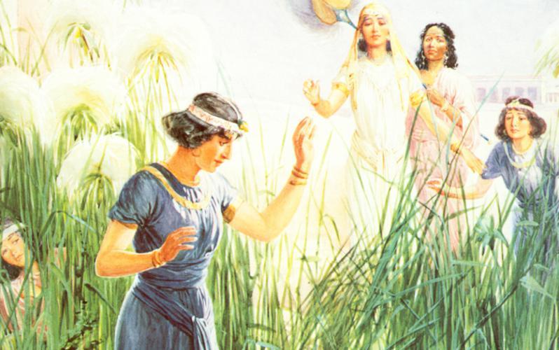 106: Младенец Моисей в тростнике