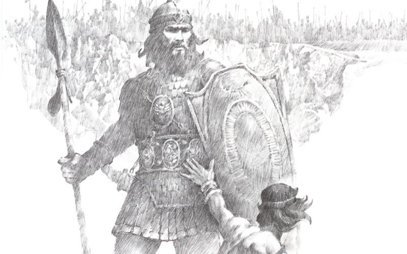 112: Давид убивает Голиафа