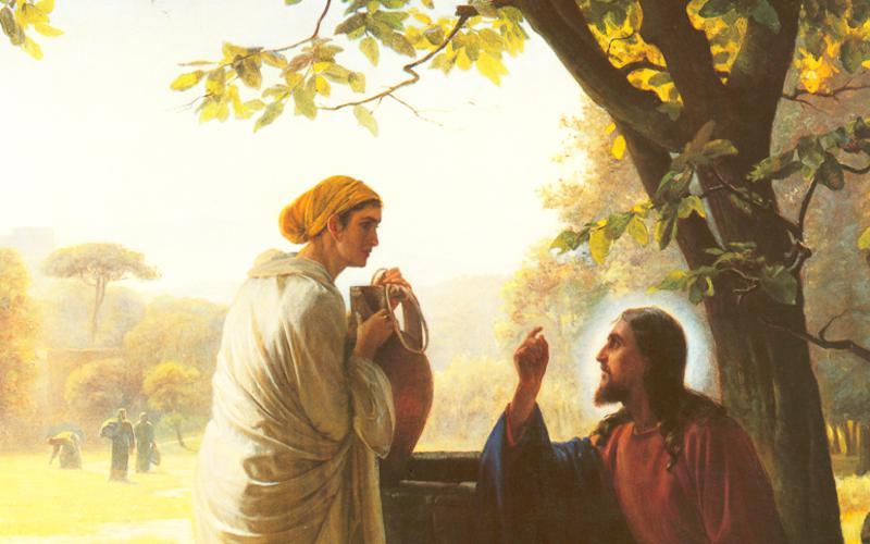 Иисус и Самарянка у колодца