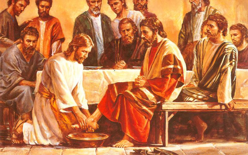 226: Иисус умывает ноги Апостолам