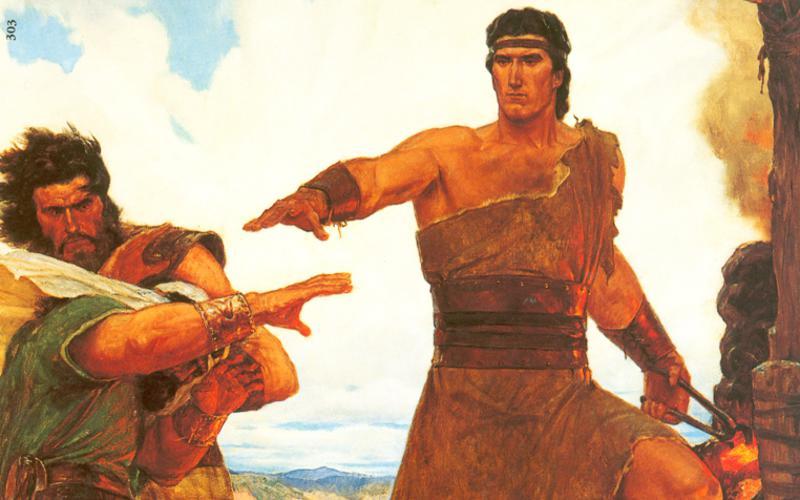 303: Нефий усмиряет восставших против него братьев