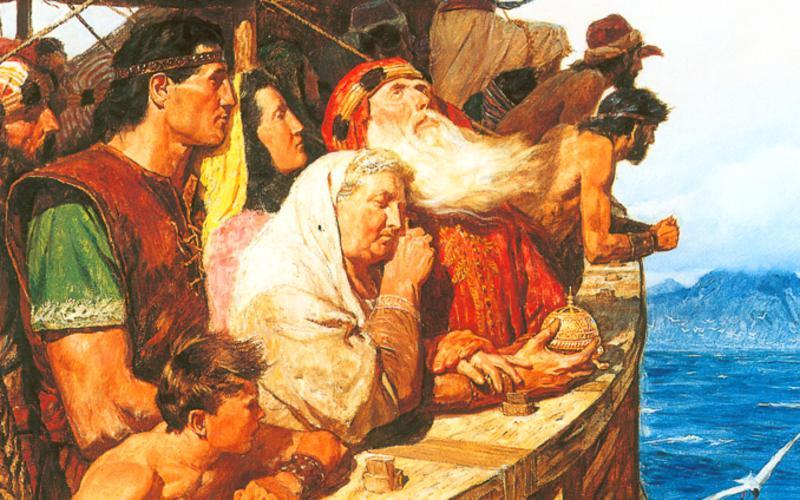 304: Легий и его народ прибывают в землю обетованную