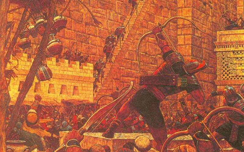 314: Самуил-Ламаниец на стене