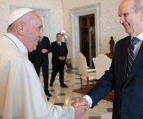 Встреча Папы римского Франциска с Расселом М. Нельсоном