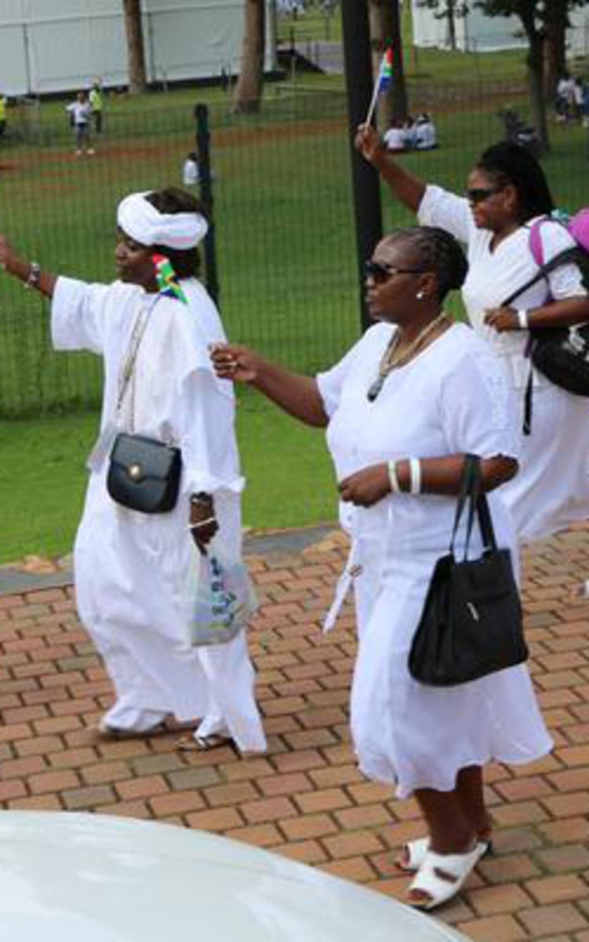 Primary leaders walking in parade