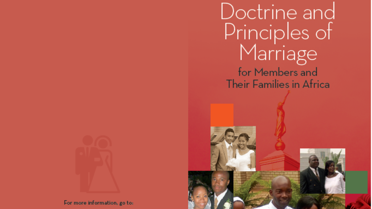 Doctrine and Principles of Marriage Brochure (English)