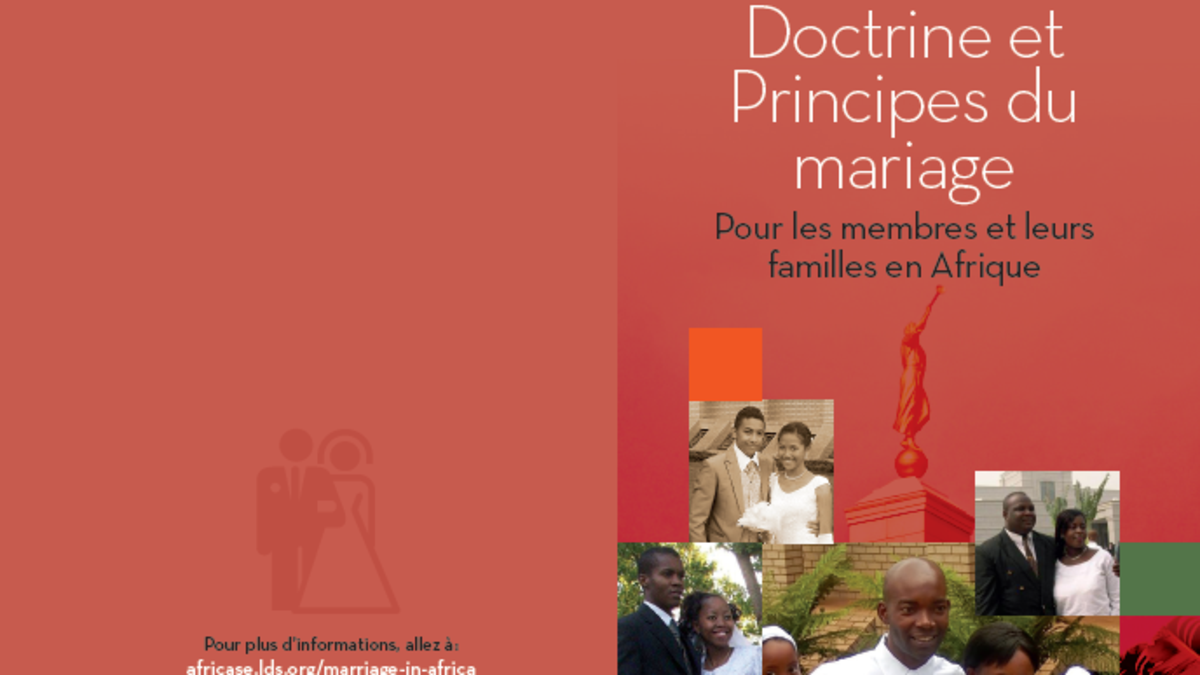 Doctrine and Principles of Marriage Brochure (French)