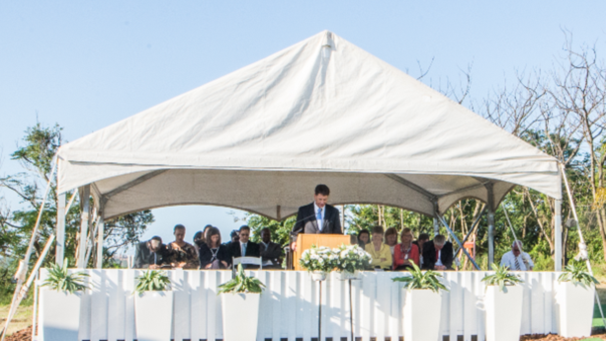 "Durban Temple Groundbreaking – ""Keep it Simple and Sacred"""