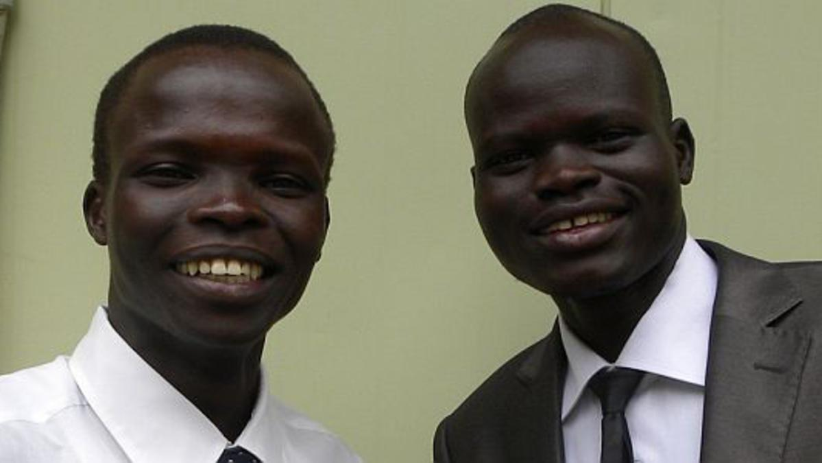 S Sudan missionaries Mark (Mike) Unwar Ukuch (Left) and Jervase Makur Dhoul Ajok (Right).jpg