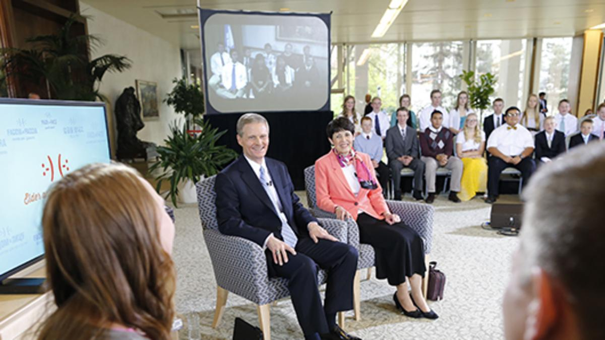 "Elder and Sister Bednar Counsel Youth during Worldwide ""Face to Face"" Event"