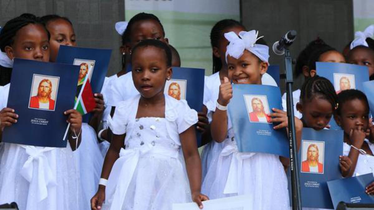 Primary children singing