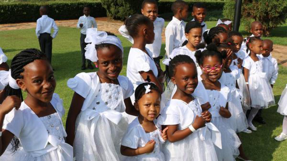 Primary Children at the Mandela Celebration