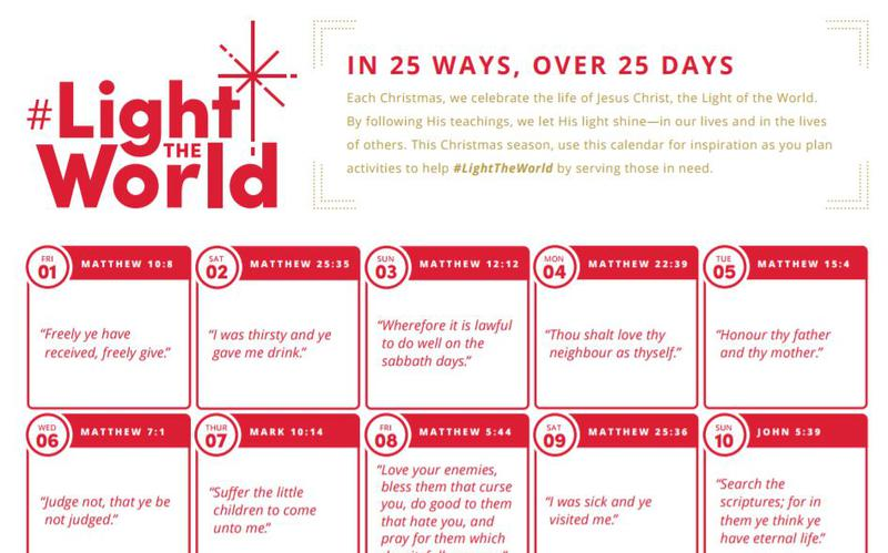 Light The World, Christmas, Africa, Mormon