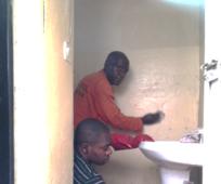 Emmanuel Mbayo (lower) felt 'joy in the service'
