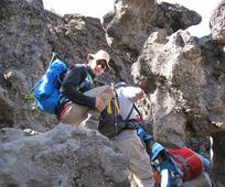Elder Van Reenen climbing Kilimanjaro