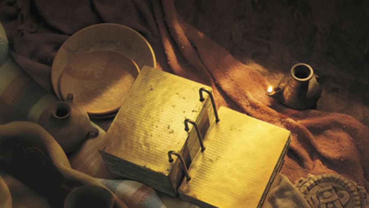 imagen das placas de ouro, livro de Mormon