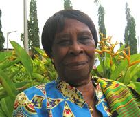 Juliana Anno is a Relief Society sister in Ghana