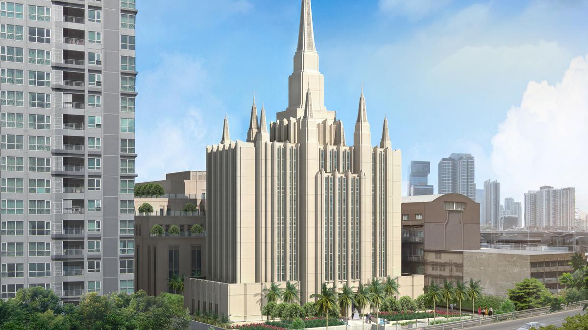 Rendering of LDS Bangkok Thailand Temple