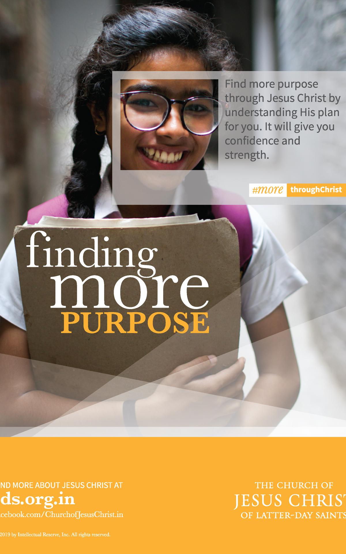 Finding More Through Christ poster
