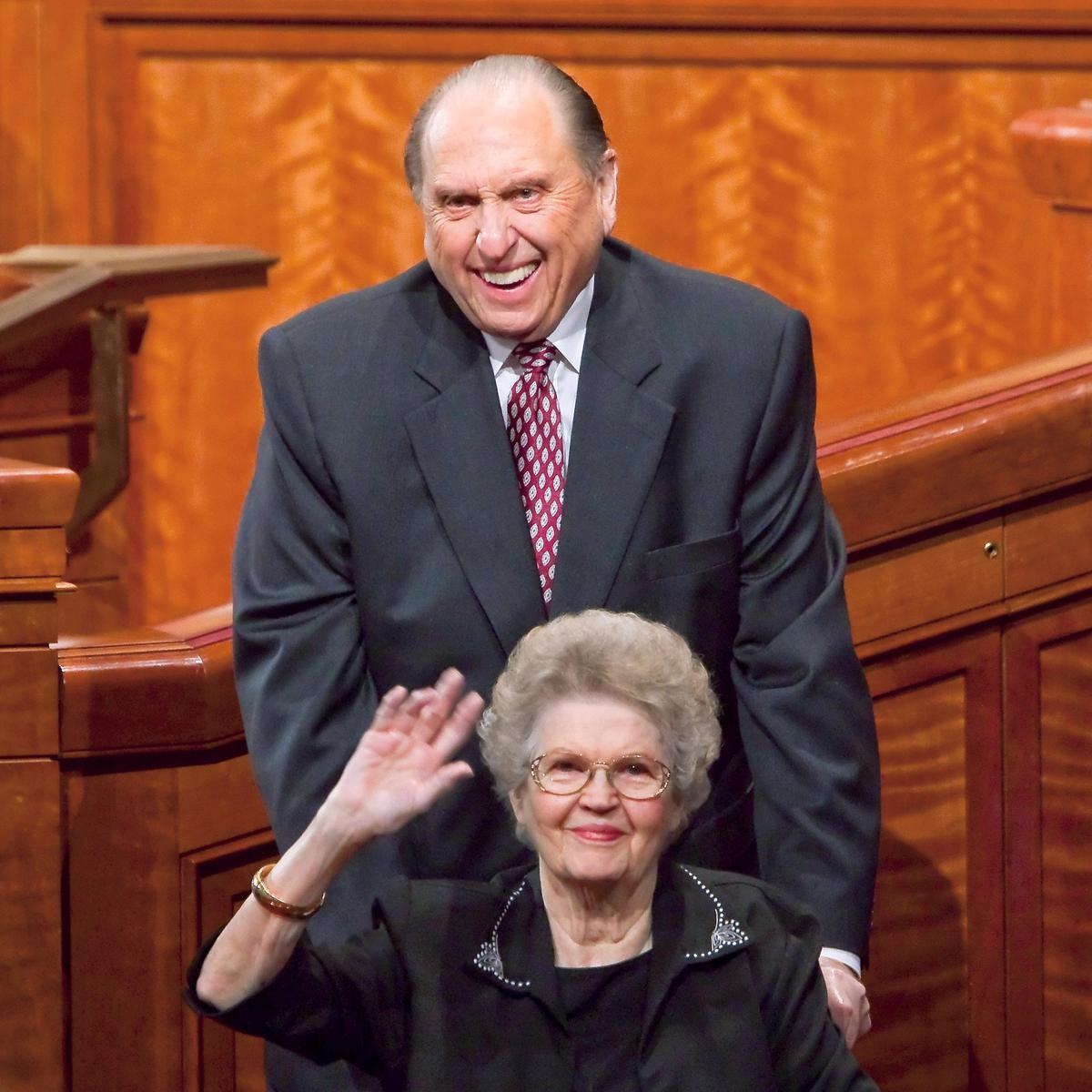 President Monson with wife
