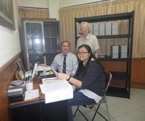 Pusat Penyimpanan Arsip Indonesia berlokasi di gedung Gereja Lingkungan ke-1 Jakarta
