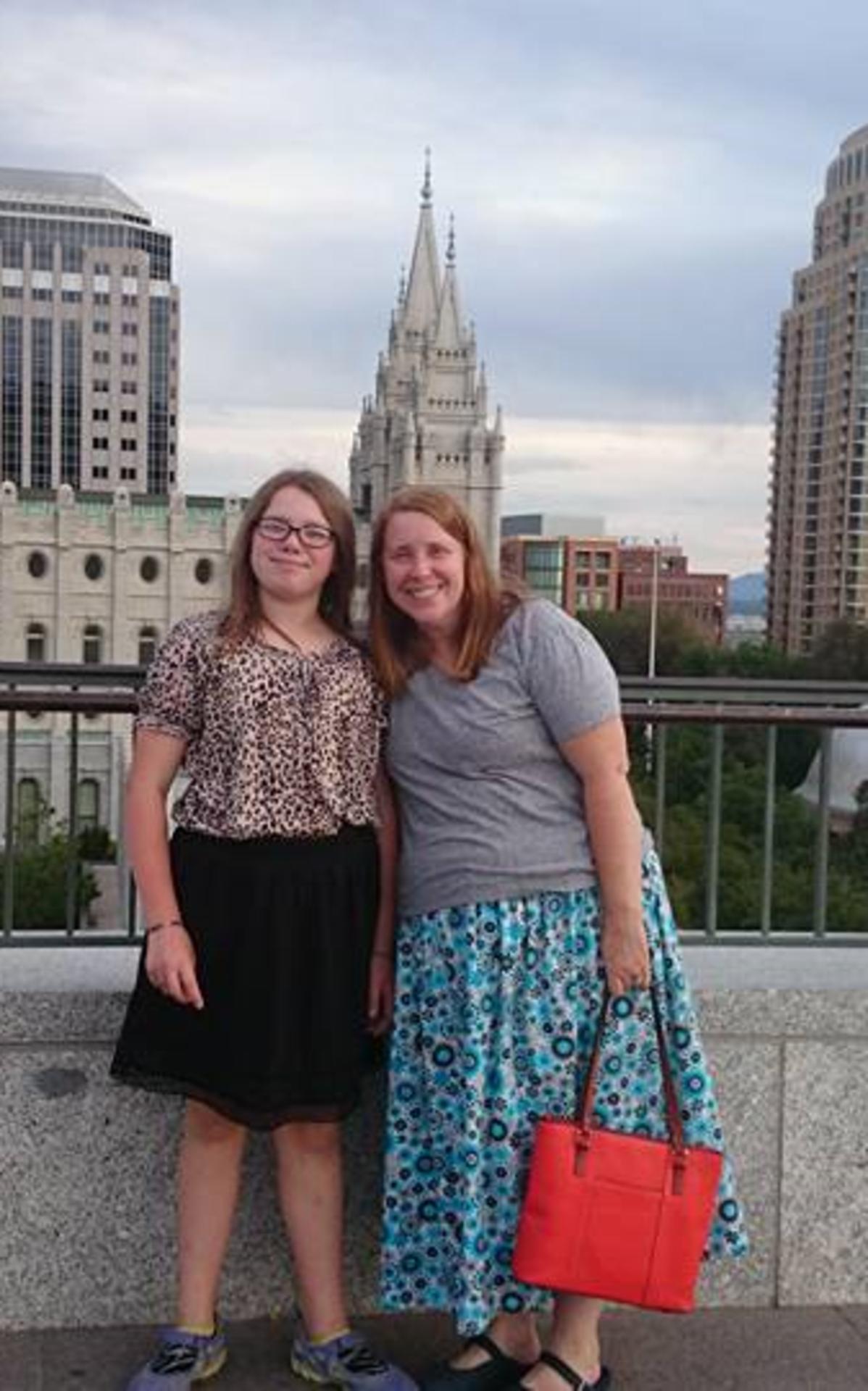 Constance and Karen McWiggans at Salt Lake City Temple.png