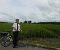 Riding in Xinying, my last, and very rural, area