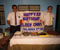 My first birthday in the mission, celebrated with the help of the Malasiqui nd Branch..JPG