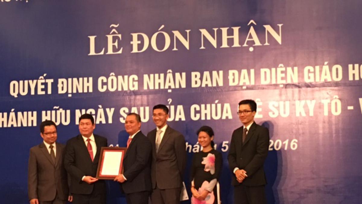 Chính Phủ Việt Nam Công Nhận Chính Thức Ban Đại Diện Giáo Hội