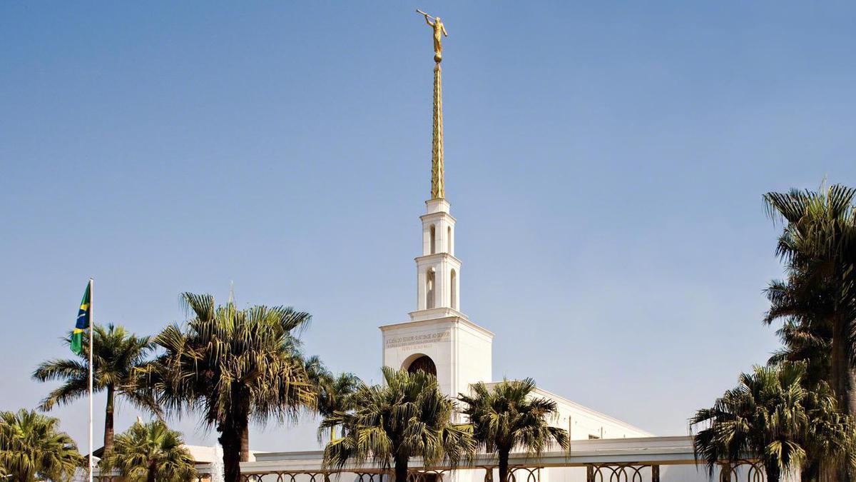 Templo de São Paulo de A Igreja de Jesus Cristo dos Santos dos Últimos Dias, um dos 11 templos existentes no Brasil, dedicado em outubro de 1978.