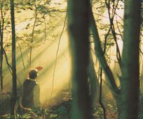 Deus, o Pai, e Seu Filho Jesus Cristo aparecem para Joseph Smith Jr. Este evento é chamado de a primeira visão.