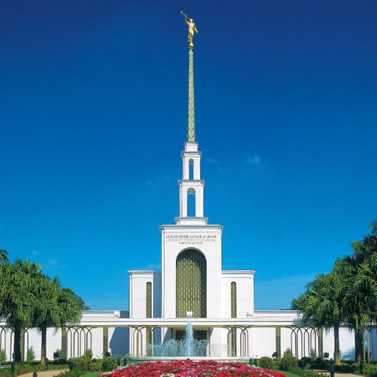 templo mormon na cidade de Sao Paulo