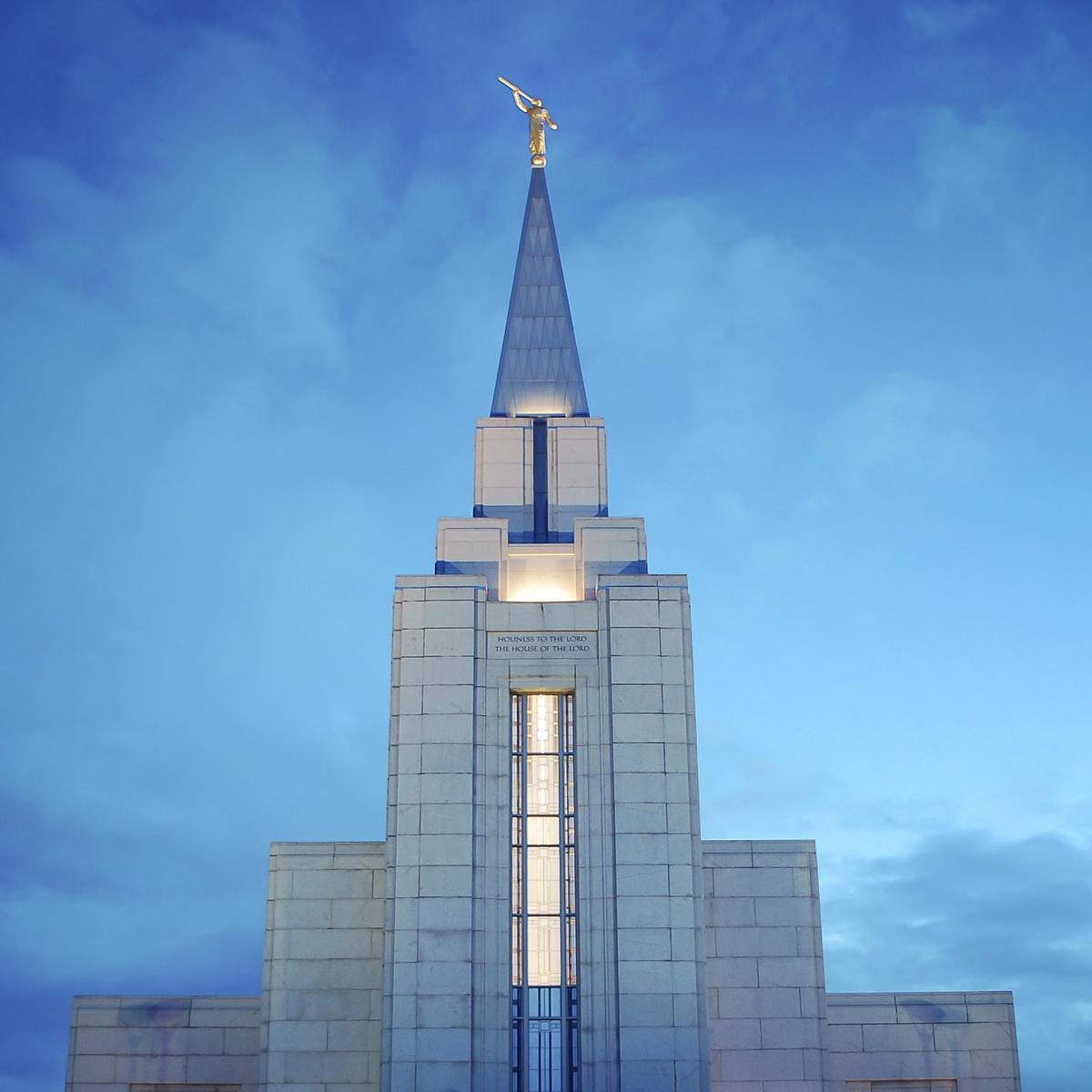 Image of the Vancouver Mormon Temple in British Columbia, Canada