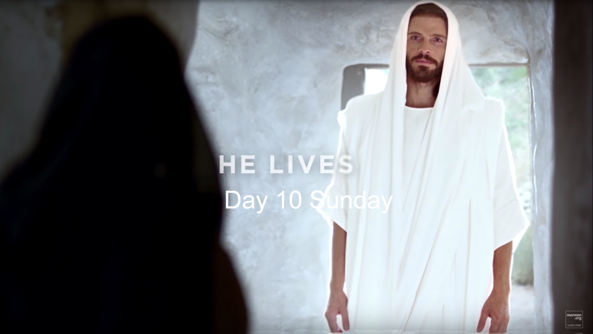 Jesus Christ was resurrected! He had risen from the tomb.